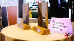 Photo: Award figures of EuroShop RetailDesign Award; Copyright: EHI Retail Institute