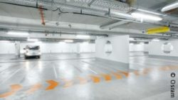 Photo: well illuminated car park; copyright: Osram